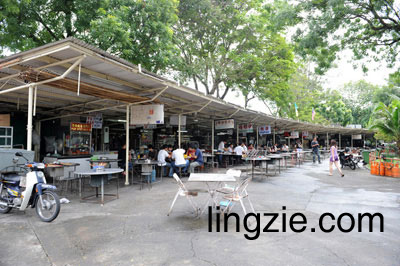 Padang Brown Hawker Center Overview