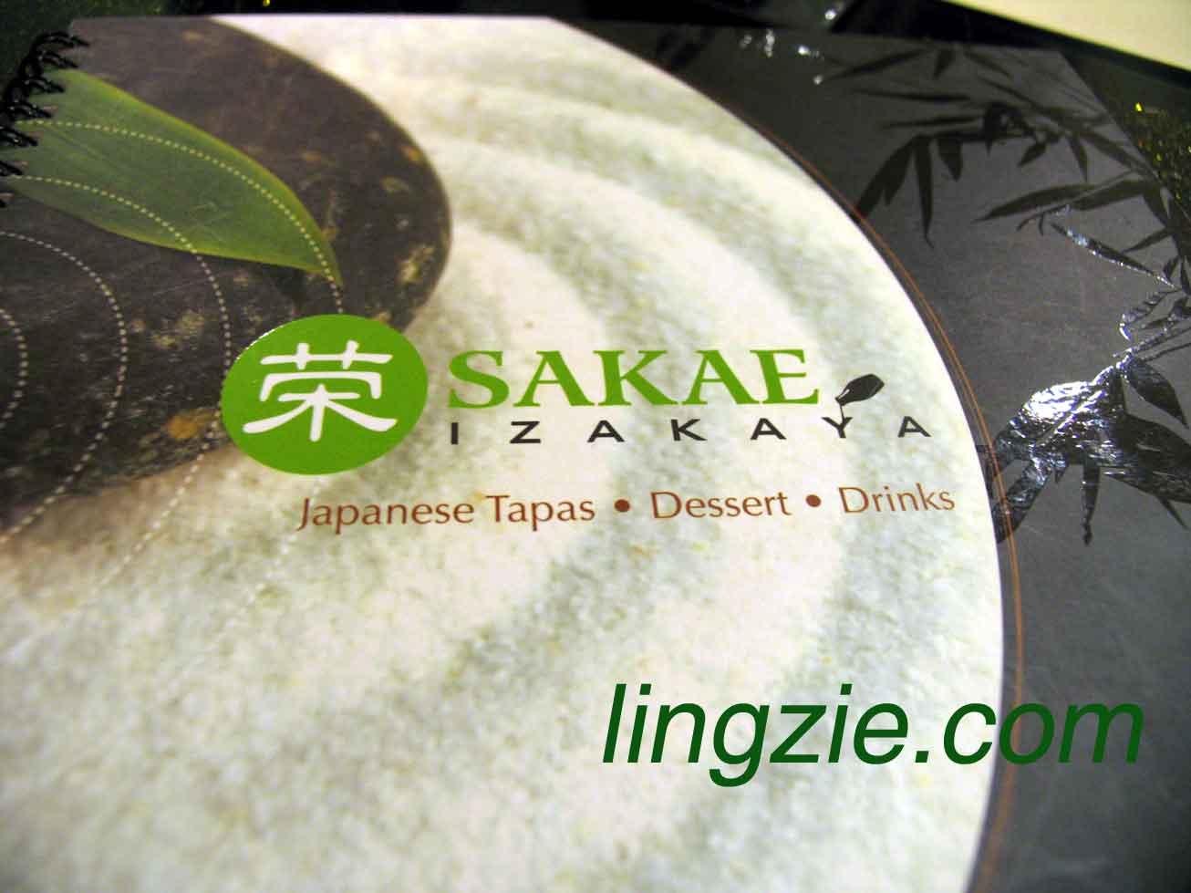 Sakae Izakaya Menu