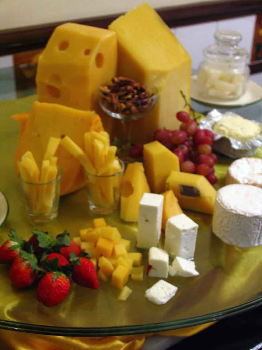 Various cheeses to tickle your tastebuds