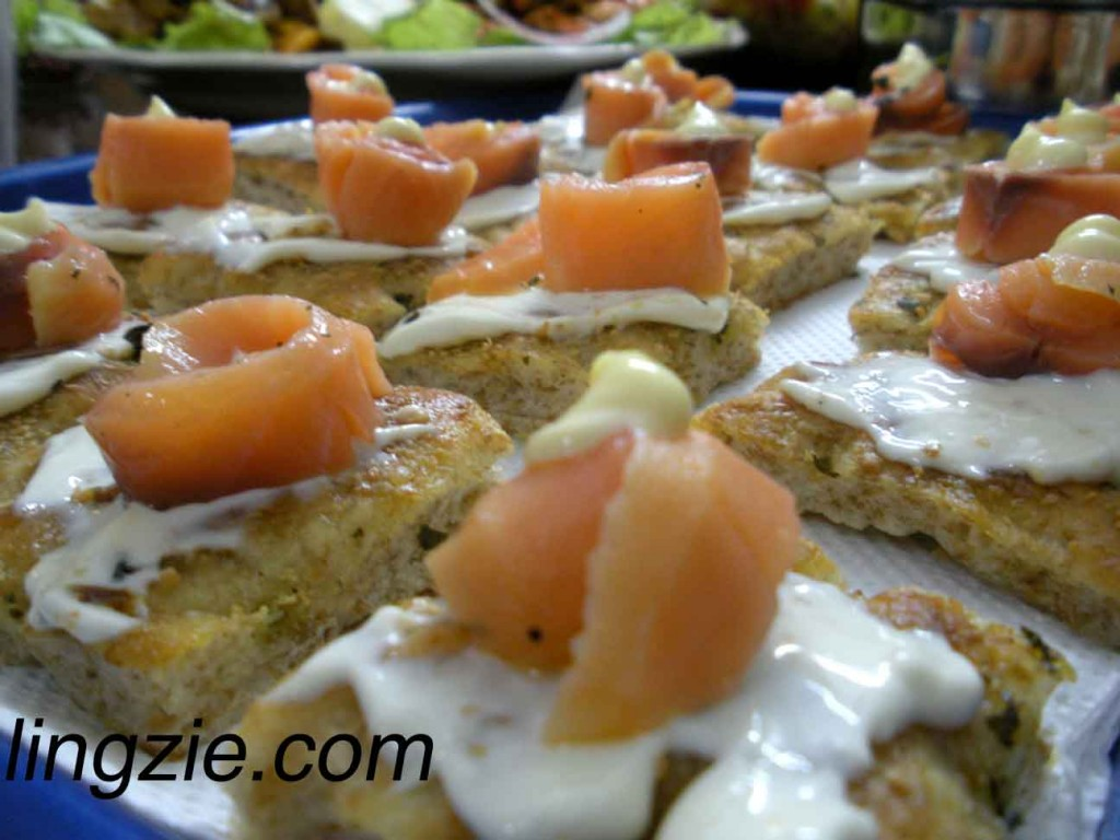 Lilian's Smoked Salmon on Homemade Foccacia Bread