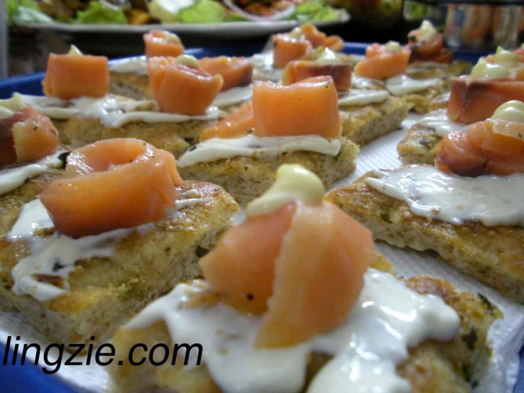 Lilian's Smoked Salmon on Homemade Foccacia Bread