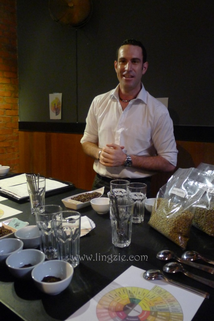 Mr Claudio Pinto the coffee sommelier