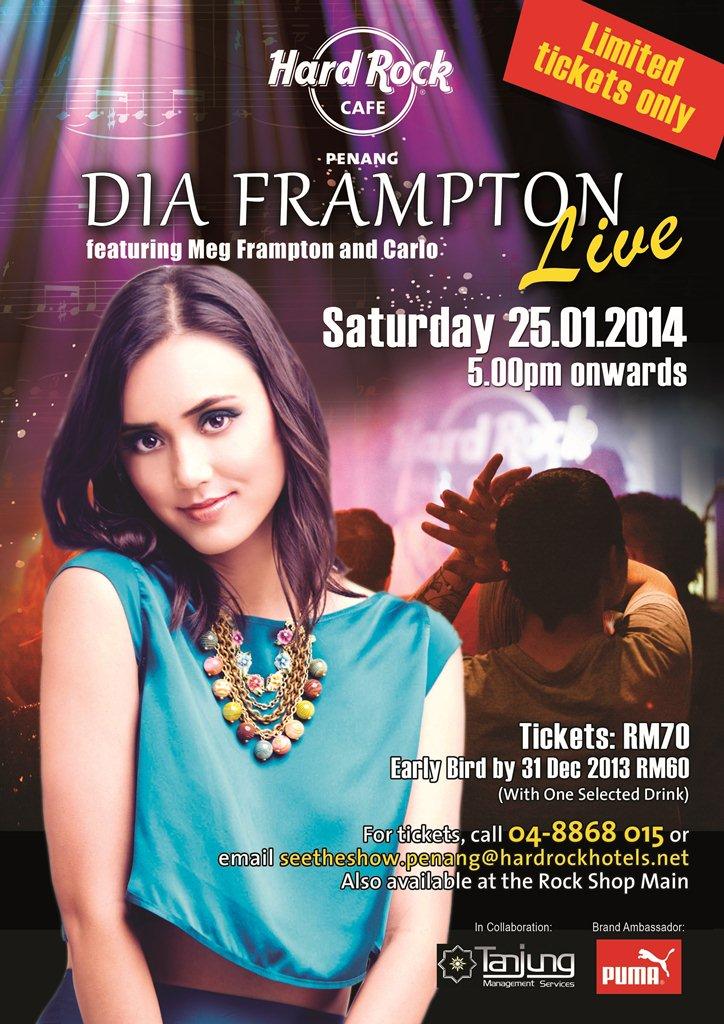 Dia Frampton Live @ Hard Rock Cafe Penang