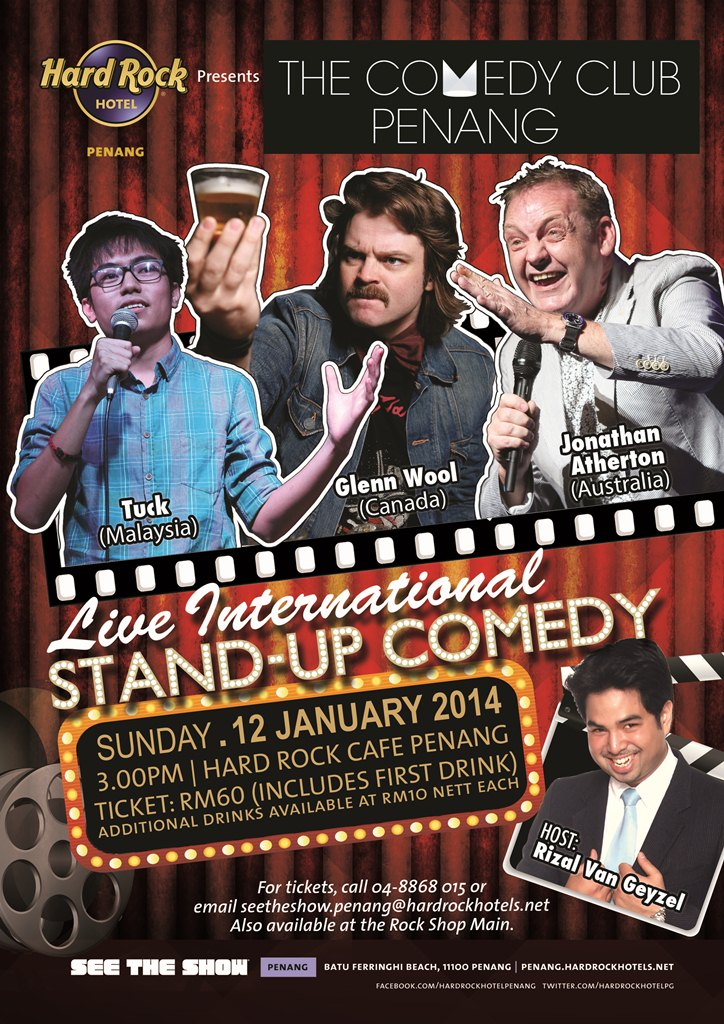 Live International Stand Up Comedy @Hard Rock Cafe