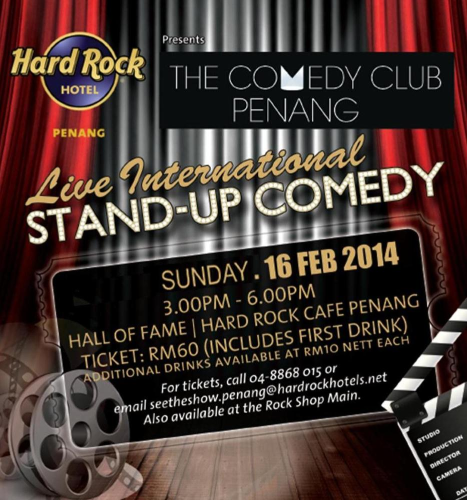Live International Stand-up Comedy @ Hard Rock Cafe