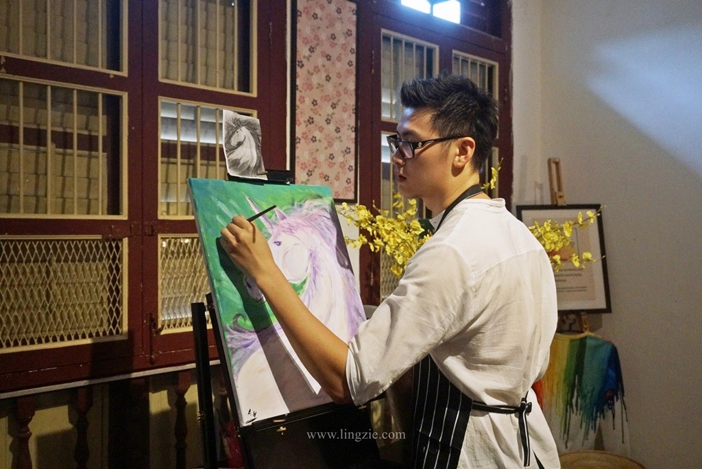 Artsy.Sip Penang, Paint & Sip, Teambuilding Activity, Penang Food Blog, Lingzie Food Blog